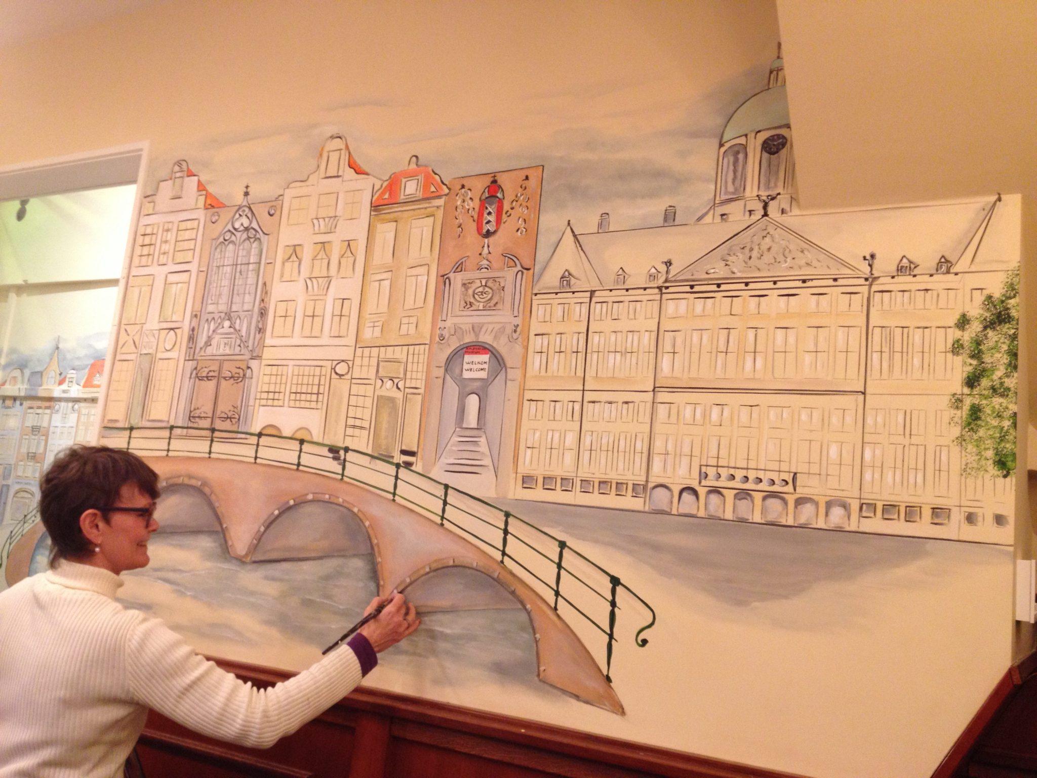 Muurschilderingen jolanda goris - Idee schilderij gang ingang ...