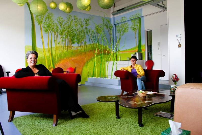 Een werkruimte waar je je thuis voelt muurschilderingen jolanda goris - Nieuw muurschildering ...